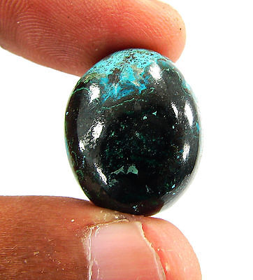 34.35 Ct Natural Blue Azurite Loose Gemstone Cabochon  Designer Stone - 14727