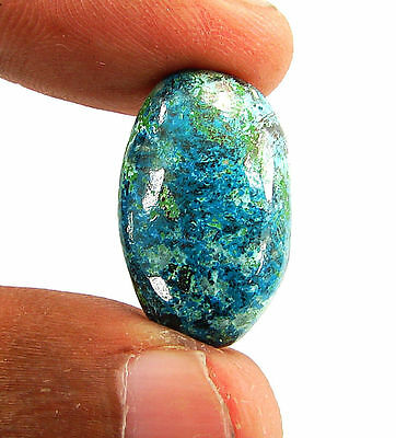 16.80 Ct Natural Blue Azurite Loose Gemstone Cabochon  Designer Stone - 14789