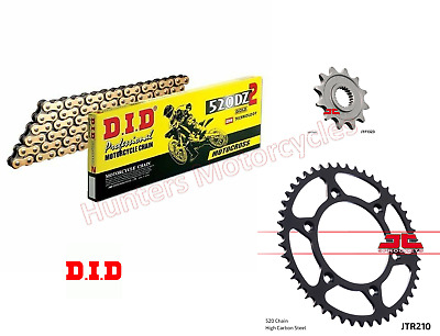 Honda CRF250 R (2004 to 2010) DID DZ2 GOLD Race Chain and JT Sprockets Set Kit