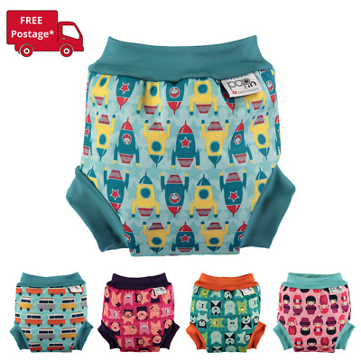 Close Pop-In Reusable Swim Nappy Rockets (5 x Sizes) 3 Layers Fleece, Stain R...