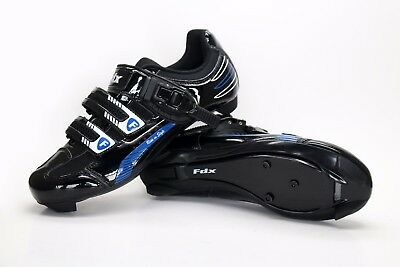 FDX Mens Cycling Shoes Road cycling Lock-slip Breathable Lightweight Bike Shoes
