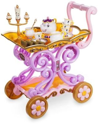 Belle Tea Cart Party Trolley Beauty and the Beast Potts Role Play Girls Toy Gift