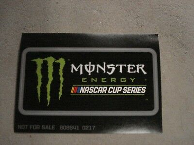 2017 Monster Energy Nascar Cup Series Decal Sticker 2 1/2 X 5 In Size,