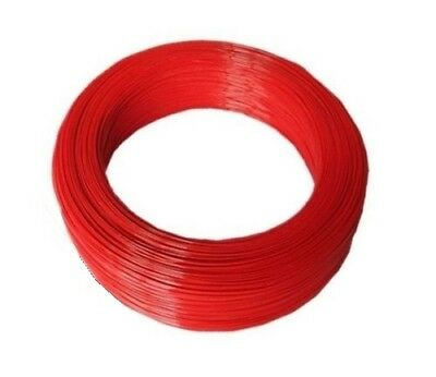 10 Meter flexibles Kabel in Rot UL 1007 24 AWG wire cable 300V - 80°  - 0,25 qmm