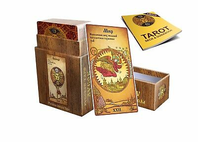 Tarot Deck Russian Lubok 78 Cards & e-Guidebook in English