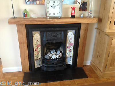 Fire Surround, solid rustic oak beam, MADE TO MEASURE oak fireplace surround