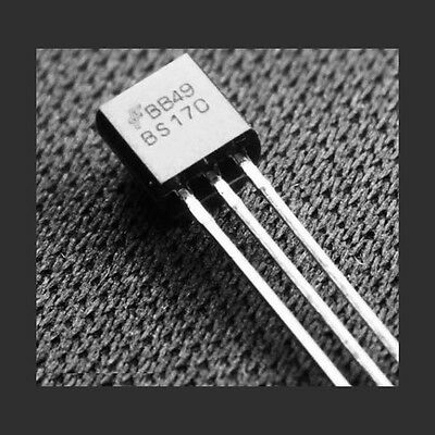 20 pcs Fairchild BS170 MOSFET N-CH 60V 500MA TO-92 New - US Seller