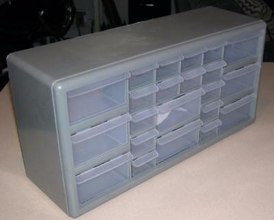 STACK ON 22 Drawer Small Parts Plastic Storage Cabinet