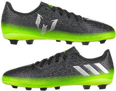 Adidas Messi 16.4 FXG Boys Kids Football Boots Black Green Size 13½K to UK5  New