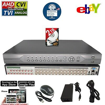 HD 32 Channel H264 Security Camera Recorder DVR Cloud 2TB