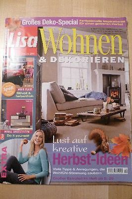lisa wohnen dekorieren november 2015 zeitschrift eur 1. Black Bedroom Furniture Sets. Home Design Ideas