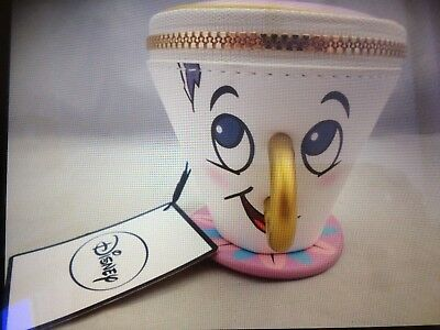 Primark DISNEY CHIP from BEAUTY AND THE BEAST 3D Cup Purse BNWT