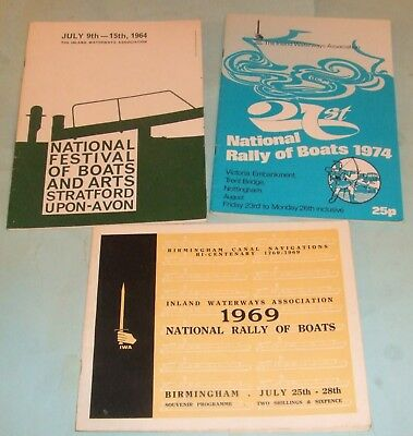 Canal Boats - Inland Waterways Association Publications x 3 Inc National Rally.