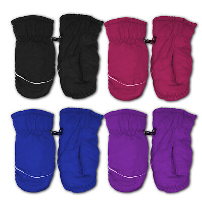 (2 Pack) Kids Toddlers Fleece Winter Gloves Waterproof Assorted Color Mittens