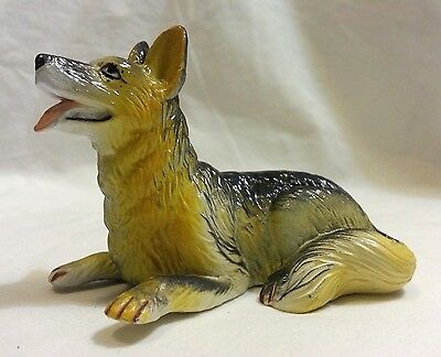 German Shepherd •FREE SHIP New Ray Dog Breed Figurine • Soft Rubber • Realistic