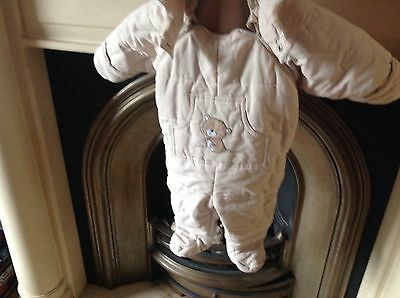 Age 4-6 Months Blue H&m  Baby Snow Suit Winter All In One