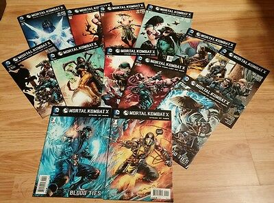 13 Mortal Kombat X Comic Book LOT - COMPLETE, Variant 1 2 3 4 5 6 7 8 9 10 11 12
