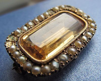 Antique seed pearl brooch