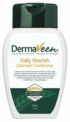 Dermaveen Daily Nourish Oatmeal Conditioner 250Ml Sensitive Scalp Exp 12-2017
