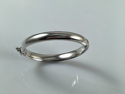 925 Sterling Silver Personalised Solid Plain Baby Engraved Bangle Christening