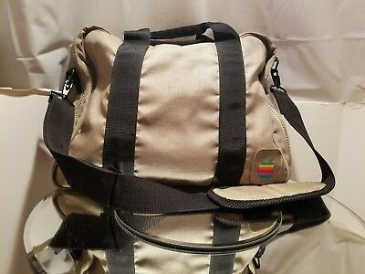 Vintage Apple Computer Rainbow Logo Canvas Soft Briefcase Travel Bag Strap