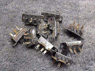 NOS -- Lot of 10 -- Stackpole SPST slide switches