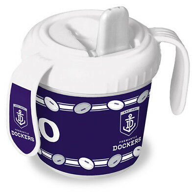 Fremantle Dockers Freo AFL Training Sipper Sippy Cup With 2 Easy Grip Handles