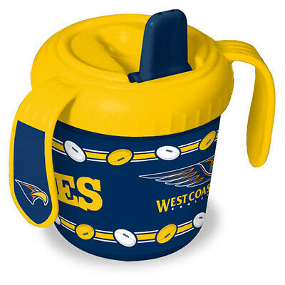 West Coast Eagles AFL Training Sipper Sippy Cup With 2 Easy Grip Handles Gift