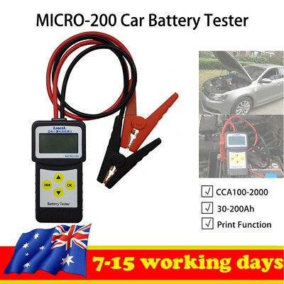 12V 30-200Ah Truck/Car Battery Load Teat Tool Digital Diagnostic Tester Analyzer