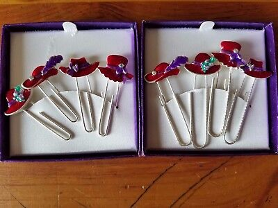 RED HAT SOCIETY Items..Lot of 8 Large Paper Clips