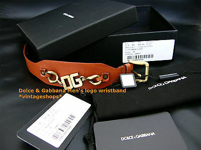 Dolce & Gabbana logo leather wristband NIB authenticity certificate