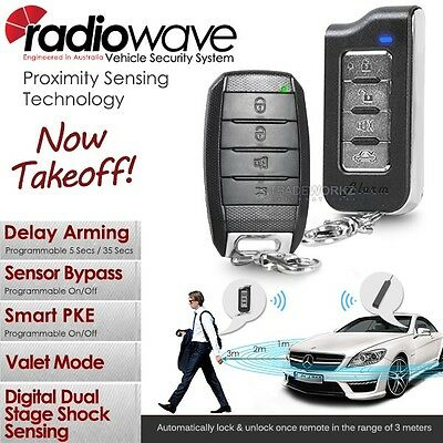 Complete Set RADIOWAVE Auto Passive Keyless Entry PKE Car Alarm + Immobilizer
