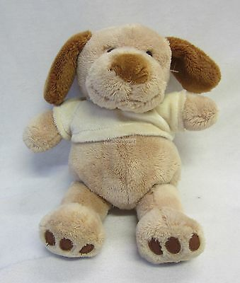 Plush Dog Fen Soft Toy & Rattle Button Eyes & Embroidered Mouth Great Baby Gift