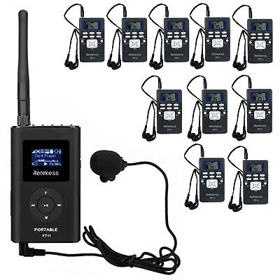 Wireless Tour Guide System Transmitter+10*Receiver for Church/Meeting/Training