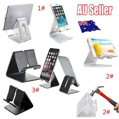 Universal Folding ABS Aluminum Tablet Mount Holder Stand For iPad iPhone Samsung