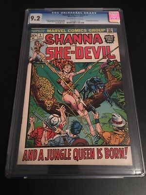 Shanna The She-Devil #1 CGC 9.2 1972 Series 1st App. Bronze Age Marvel Comics