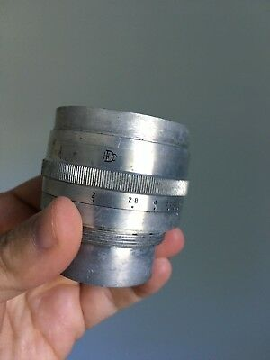Dallmeyer Dallac 85mm f2 English Vintage Camera Lens Cell Leica Cooke