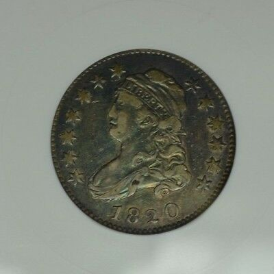 1820 25C Anacs Xf45 Oh Old Holder