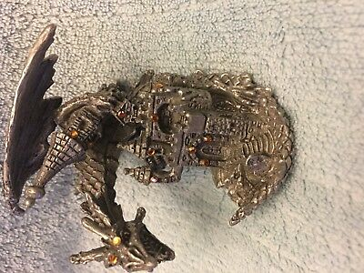 """ Snatching The Turret"" Pewter Dragon Rare And Brand New"