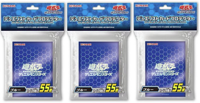 Yu-Gi-Oh Duelist Card Protector Blue 55 sleeves ×3 with tracking number Japan