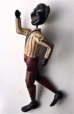Antique Black Americana Hand Carved Wooden Jig Doll Toy