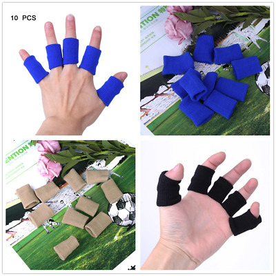 Stretchy Finger Sleeve Support Wrap Arthritis Guard Volleyball Basketball 10PCS