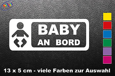 Auto Aufkleber Baby on Board Tuning Car Tattoo - viele Farben 13 x 5 cm (278)