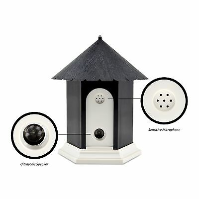Ultrasonic Outdoor Dog Bark Controller in Birdhouse Shape  Battery Operated -...