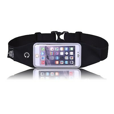 LaTEC Running Belt Waist Pack with Clear Touch Screen and Earphone Hole Sweat...