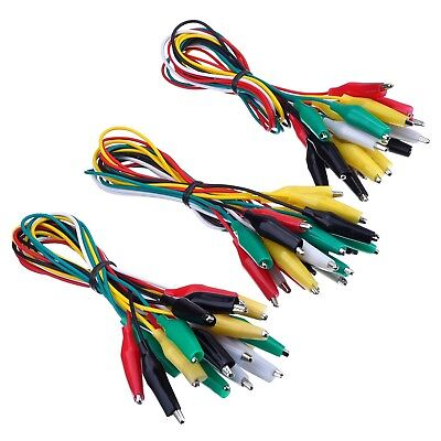 30 Pieces Test Leads with Alligator Clips Set Insulated Test Cable Double-end...