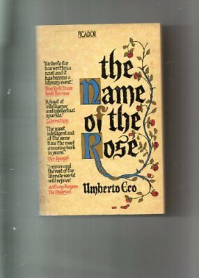The Name of the Rose (Picador Books) By  Umberto Eco, W. Weaver. 9780330284141