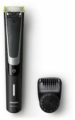 Philips OneBlade Pro Hybrid Trimmer & Shaver with 12-Length Comb (UK 2-Pin Ba...