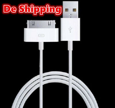 USB Ladekabel datenkabel Sync für iPhone 4S 4 3GS 3G iPad 3 2 1 iPod Touch Weiss