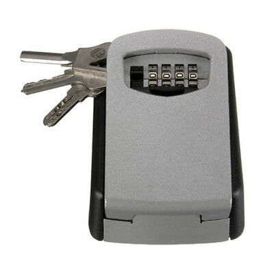 Key Storage Lock Box 4 Digit Combination Wall Mount Holder Safe Security Outdoor